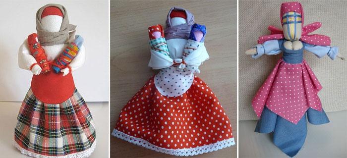 Как сделать из ткани кукол 266